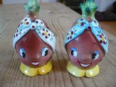 Items for sale from: LooLuu's, Page: 4 Pineapple Face, Shake Shake, Salt And Pepper Set, Kitchen Things, Vintage Purses, Vintage Vibes, Salt Pepper Shakers, Sugar And Spice, Ruby Lane