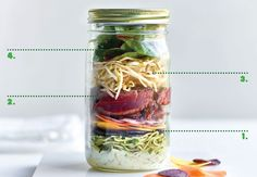 Salad in a jar - Koken met olie - Vandemoortele