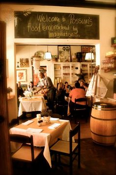 "Possum's Bistro & Deli - Possums is the brainchild of jewellery designer and interior decorator Karen ""Possum"" Staples, a Kiwi who has made South Africa her home. There's a small menu with the emphasis on fresh produce. For more information click here http://www.possumsbistro.co.za/"