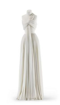 Evening dress,  pleated viscose jersey, Madame Grès, after 1973 #hellas