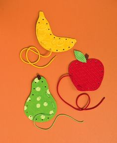 DIY fabric lacing cards for kids. More
