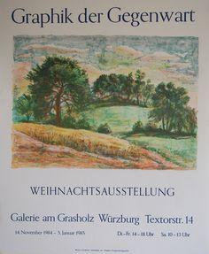 Graphik der Gegenwart Exhibition Poster 1984 by ARTANDVINTSTORE on Etsy Vintage Posters, Vintage Art, Wall Art Prints, Fine Art Prints, Exhibition Poster, Gras, Sign Printing, Affordable Art, Etsy