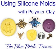 Learn how to use silicone molds with polymer clay. Learn how to make a faux cameo in this series of articles at The Blue Bottle Tree | FREE Polymer Clay Tutorial too