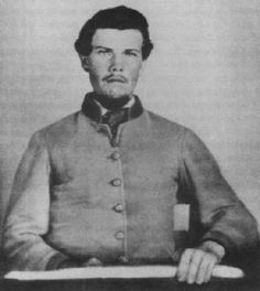 Sgt. Major Thomas Benton Potter 16th Tennessee Infantry. He was wounded at the battle of Perryville, KY., Oct. 8, 1862. This image was made in Chattanooga in 1863.