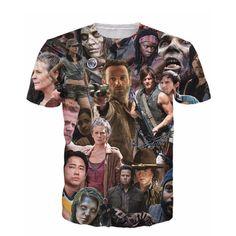 New Arrive The Walking Dead Paparazzi T-Shirt Rick Grimes Carl Daryl Michonne zombies 3d summer style tee t shirt women men #CLICK! #clothing, #shoes, #jewelry, #women, #men, #hats, #watches