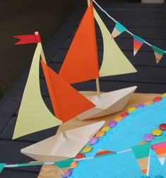 sailboat decorations | Paper Boat Party Decorations - creative jewish mom