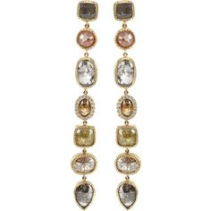 TODD REED Fancy Diamond Earrings ($23,980) ❤ liked on Polyvore