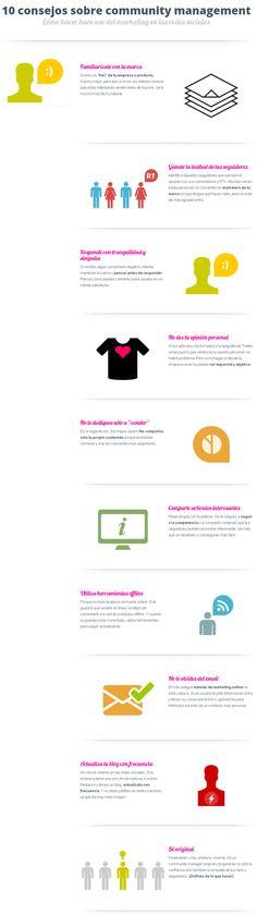 10 consejos para Community Manager #infografia #infographic #socialmedia