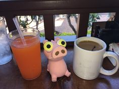 Izzy has a new vice - POG Juice (Pineapple, OJ and Guava) at Lulu's Waikiki - Honolulu, HI · (14-Mar-2017)... Still looking for that perfect cup of coffee.