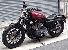 Victory Motorcycles, Cars And Motorcycles, Custom Harleys, Custom Bikes, Sportster Cafe Racer, Harley Davidson Sportster, Bobbers, Ford Mustang, Motorcycle Garage