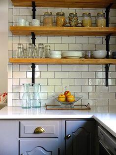 Küchengestaltung Ideen offene Küchenregale aus Holz | Küche Möbel ... | {Küchenregale 17}