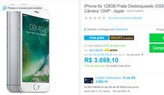 iPhone 6s 128GB Prata Desbloqueado iOS9 3G/4G Câmera 12MP << R$ 275319 >>