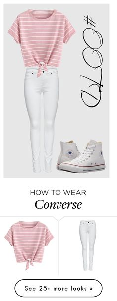 """#OOTD113"" by lilythefangirl on Polyvore featuring M&Co, Converse, cute, ootd, homeset and polyvorefashion"