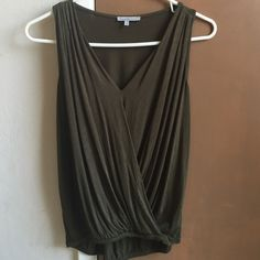 Charlotte Russe Olive Green Top Only worn once. Super cute and comfy! Charlotte Russe Tops Blouses