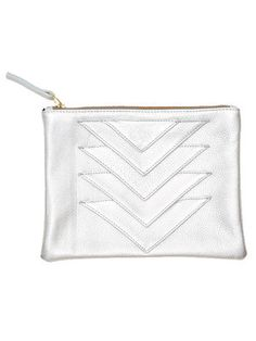 Ricco Duo Pouch - Silver by collina strada for Of a Kind, Where would you tote this? http://keep.com/ricco-duo-pouch-silver-by-collina-strada-for-of-a-kind-by-narin_tangprasertchai/k/2Lu0fCgBAp/