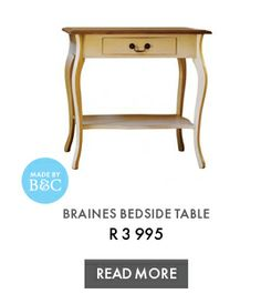 BRAINES BEDSIDE TABLE