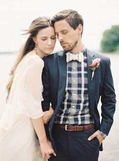 lovely dark blue groom style