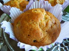 Healthy Banana Muffins made with honey, applesauce and raisins