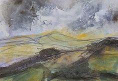 Liz Salter Grey Sky Green Hill