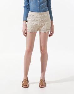 CROCHET SHORTS - Shorts - Woman - ZARA India
