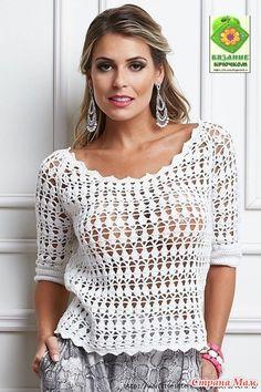 . Ажурная блуза