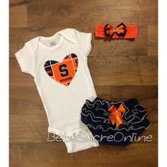 Syracuse University Outfit and Headband by BebeSucreOnline on Etsy