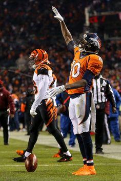 Broncos in the Playoffs! Denver Brocos, Denver Broncos Football, Go Broncos, Broncos Fans, Cincinnati Bengals, Paul Brown Stadium, Emmanuel Sanders, Pro Football Teams, Football Conference