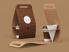 Vanilla on Behance. Clever #coffee break #packaging PD