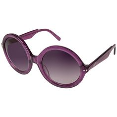 0d950e863d 7 For All Mankind Women s Purple Crystal Round Frame Sunglasses ( 30) ❤  liked on
