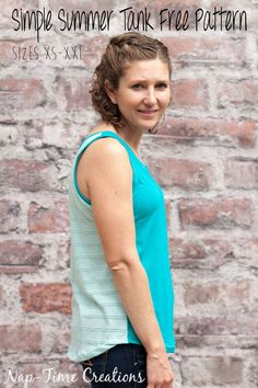 Simple-Summer-Tank-Free-pattern-for-women--in-sizes-xs-xxl-from-Nap-Time-CreationsSimple-Summer-Tank-Free-pattern-for-women--in-sizes-xs-xxl-from-Nap-Time-Creations #MyJergensGlow {ad}