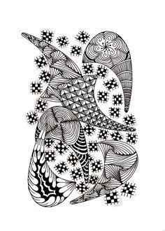 Renates Zentangle 23.02.2017 Zentangles, Art, Mandalas, Art Background, Zentangle, Kunst, Performing Arts, Art Education Resources, Artworks