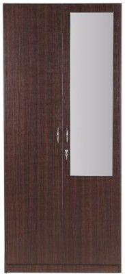Hometown Zina Engineered Wood 2 Door Wardrobe Finish Color Walnut