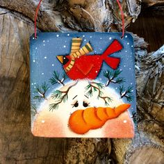 NEW 2015 Charming Snowman Ornament by CountryCharmers on Etsy