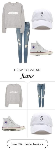 """""""Untitled #256"""" by tiana25 on Polyvore featuring Frame Denim, MANGO and Converse"""