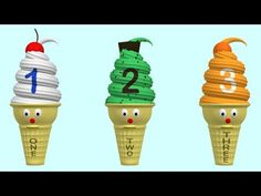 Ice cream cones teach counting 1 to 10. Stay for the sprinkles!