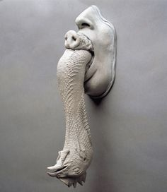 Nicola Costantino's Sculptures Confront Animal Cruelty artistic talent aside, this really creeps me out. Sculpture by Nicola Costantino.Mouth's trilogy, Silicon cast from real chicken, hog and human mouthsArgentinian-born artist Nicola Constantino Arte Horror, Horror Art, Contemporary Sculpture, Contemporary Art, Constantino, Wow Art, Paperclay, Art Graphique, Weird Art