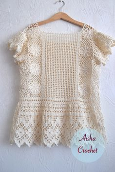 Crochet boho top by Aisha Crochet