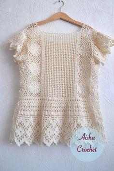 Crochet boho top by Aisha Crochet