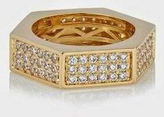Walter Baker Jewelry >> Hexagon Ring:  Hexagon Ring Jewelry >> List Price: $98 >> Deal Price: $35 Sparkling pavé sides make this gold-pl...