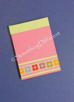 Cute Handmade Notepad, #washi tape