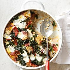 Kale, Chorizo, and Red Bean Brunch Casserole