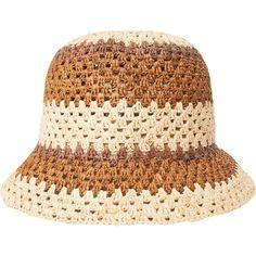 Crochet Beanie Hat, Crochet Cap, Knitted Hats, Sombrero A Crochet, Crochet Summer Hats, Raffia Hat, Hat Tutorial, Crochet Designs, Lana
