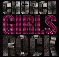 Church girls Rock Religion Custom hot fix iron on transfer Rhinestone Bling  on Etsy 15cde2d3bca6