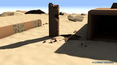 Unforgiving by Conrad Veddern.  Low poly scene created and rendered in C4D.