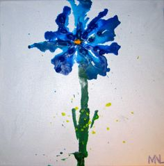 Melted Crayon Flower by StretchedStudios on Etsy, $45.00