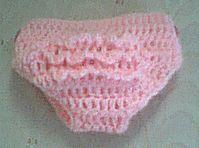 Ruffle bottom diaper cover - crochet free pattern