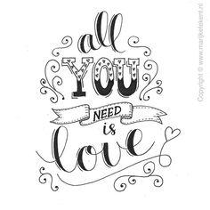 tout ce dont tu as besoin c'est de l'amour