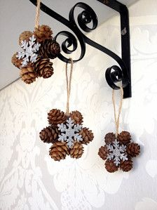 Ornaments in Holiday Decor - Etsy Holidays Pine Cone Christmas Decorations, Christmas Ornament Crafts, New Years Decorations, Holiday Crafts, Holiday Decor, Simple Christmas, Christmas Home, Pine Cone Crafts, Diy Home Crafts