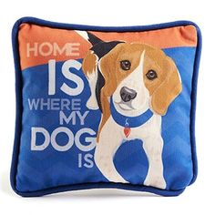 Beagle Decorative Dog Pillow 9×8