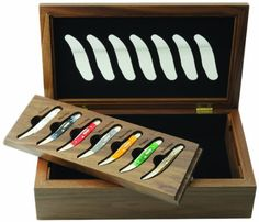 Case Cutlery 87657 Small Texas Toothpick Set assortment of Seven Different Handles -- Click image to review more details.